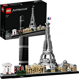 ihocon: LEGO Architecture  Paris Skyline Building Kit 21044 With Eiffel Tower Model and other Paris City Architecture for build and display (649 Pieces) 樂高建築系列21044巴黎天際線