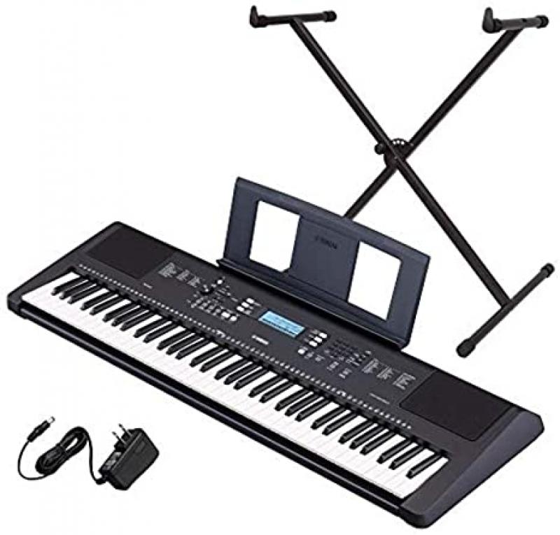 ihocon: Yamaha PSR-EW310 76-key Portable Keyboard Bundle with Stand and Power Supply 76鍵電子琴, 含琴架