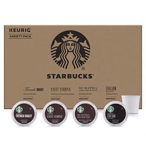 ihocon: Starbucks Dark Roast Coffee K-Cup Variety Pack for Keurig Brewers, 96 K-Cup Pods 星巴克黑咖啡膠囊