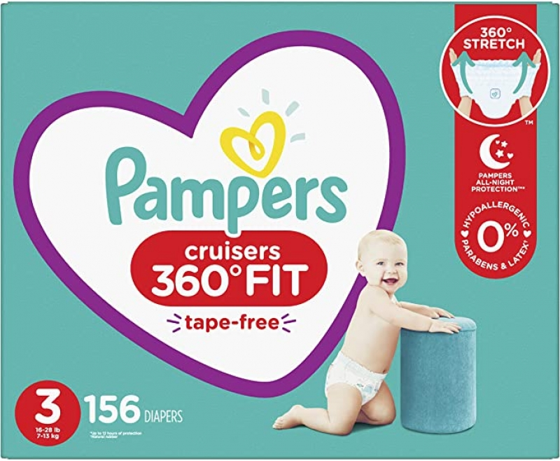 ihocon: Pampers Pull On Cruisers 360° Fit Disposable Baby Diapers, Diapers Size 3, 156 Count - 幫寶適尿片