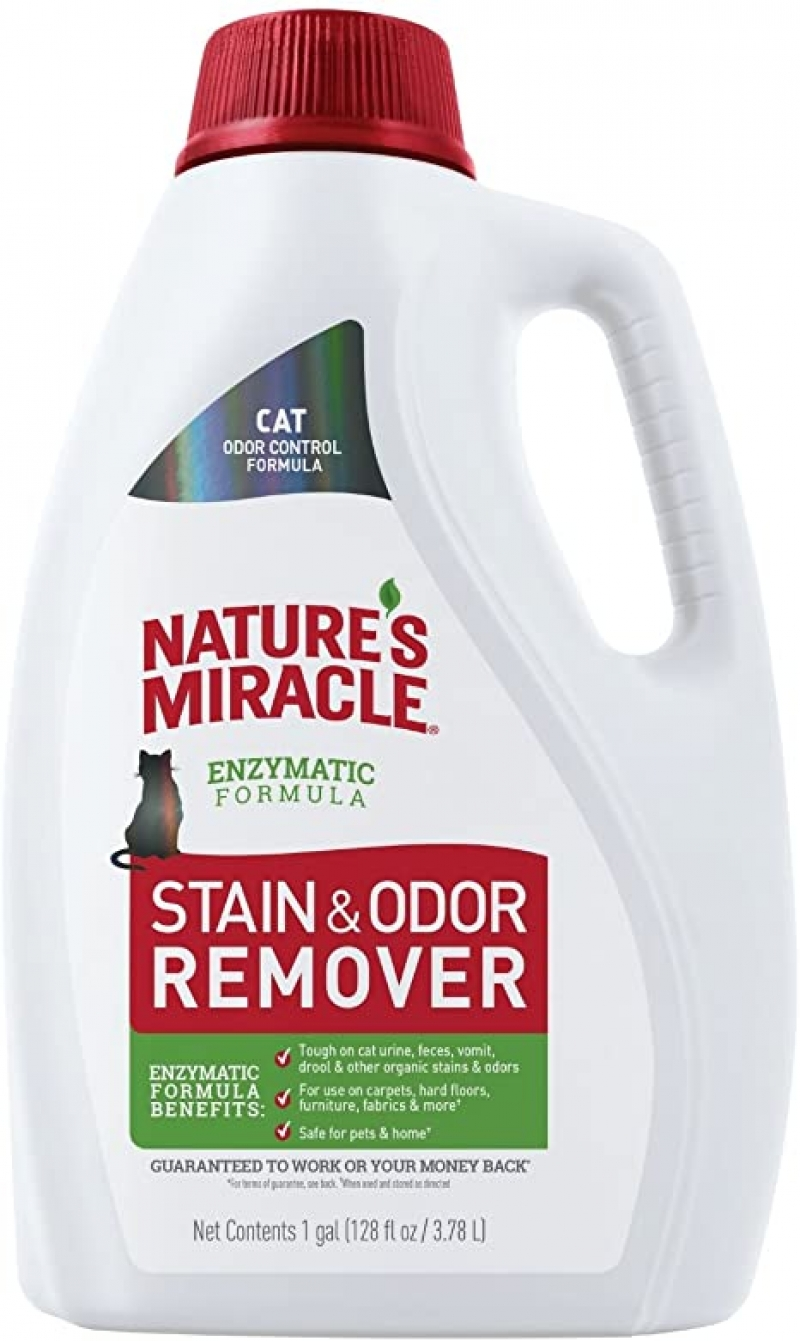 ihocon: Nature's Miracle Stain and Odor Remover Cat, Odor Control Formula 酵素配方, 寵物污漬及臭味去除劑 1加侖