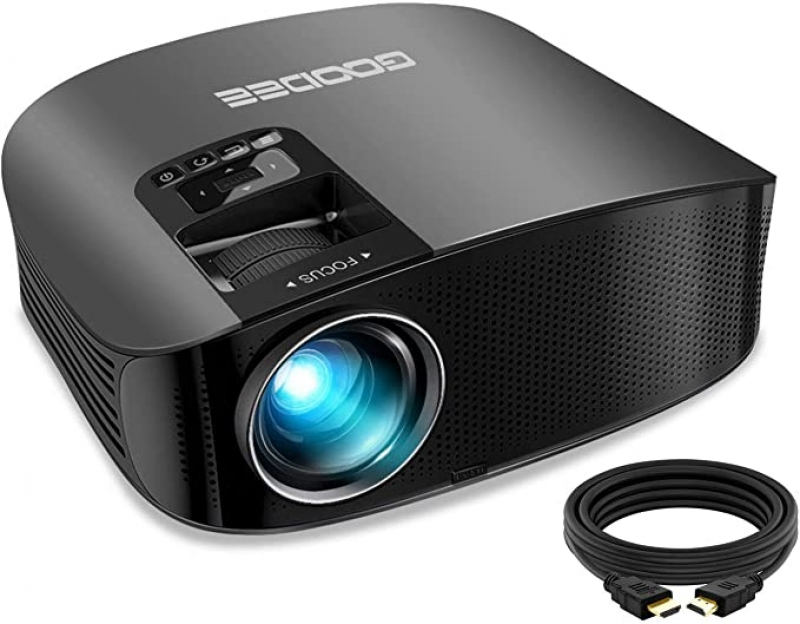 ihocon: GooDee 2021 Upgrade HD Video Projector 6800L Outdoor Movie Projector 家庭影院投影機