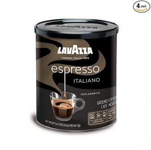 ihocon: Lavazza Espresso Italiano Ground Coffee Blend, Medium Roast, 8-Ounce Cans,Pack of 4 義式研磨咖啡