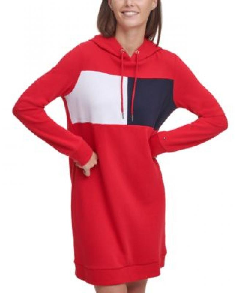 ihocon: Tommy Hilfiger Colorblocked Hoodie Dress 拼色連帽連衣裙-多色可選