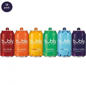 ihocon: bubly Sparkling Water, all for love pride Pack, 12 fl oz cans (18 Pack) 氣泡水