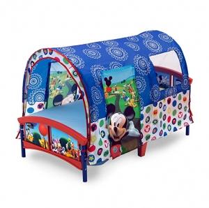 ihocon: Delta Children Toddler Tent Bed, Disney Mickey Mouse 迪士尼米奇幼兒帳篷床