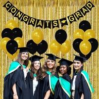 ihocon: Partyprops Congrats Graduation Banner Decorations – Pack of 23 畢業慶祝Party裝飾