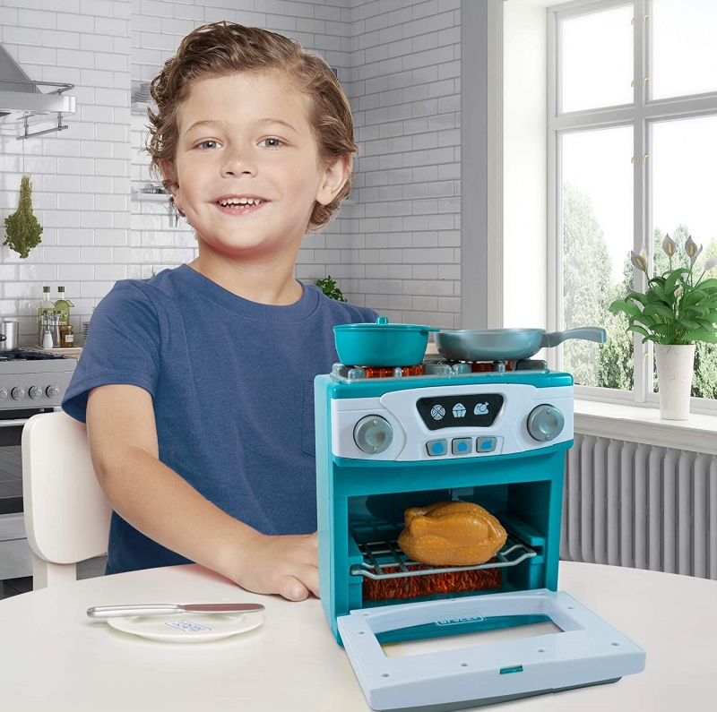 ihocon: BLACK+DECKER Junior Oven and Stove Role Play Pretend Kitchen Appliance 玩具烤爐