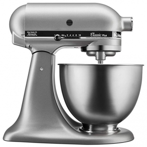 ihocon: KitchenAid KSM75SL Classic Plus 4.5-Qt. Tilt-Head Stand Mixer, Silver 攪拌機