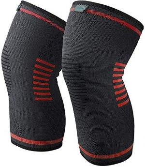 ihocon: Knee Brace 2 Pack Compression Sleeves Red Xlarge 護膝一副