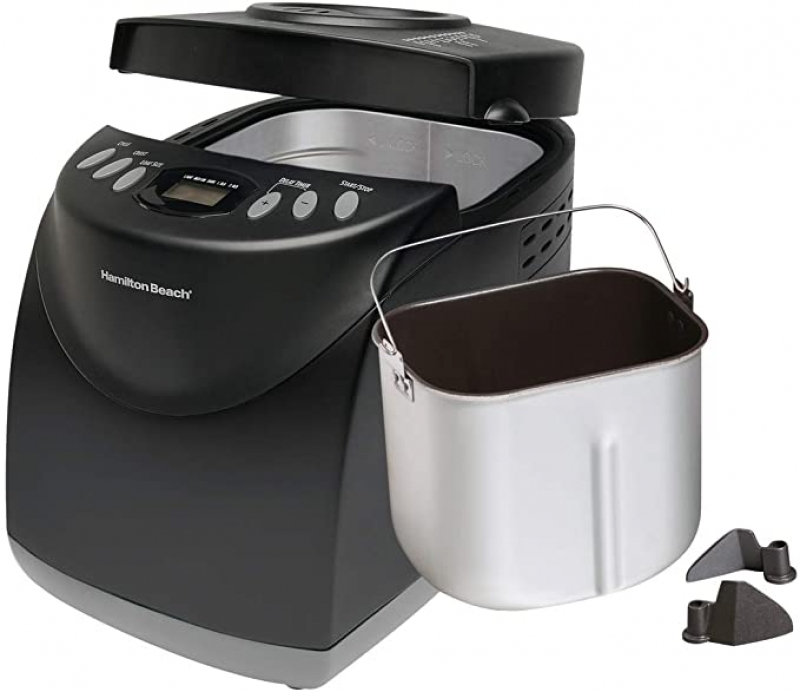 ihocon: Hamilton Beach 2 Lb Digital Bread Maker, Programmable, 12 Settings + Gluten Free, Dishwasher Safe Pan + 2 Kneading Paddles 可自定程序麵包機