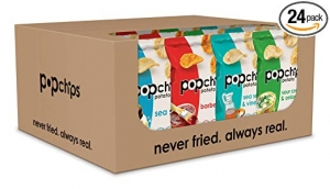 ihocon: Popchips Potato Chips, Variety Pack, Single Serve 0.8 Ounce (Pack of 24)