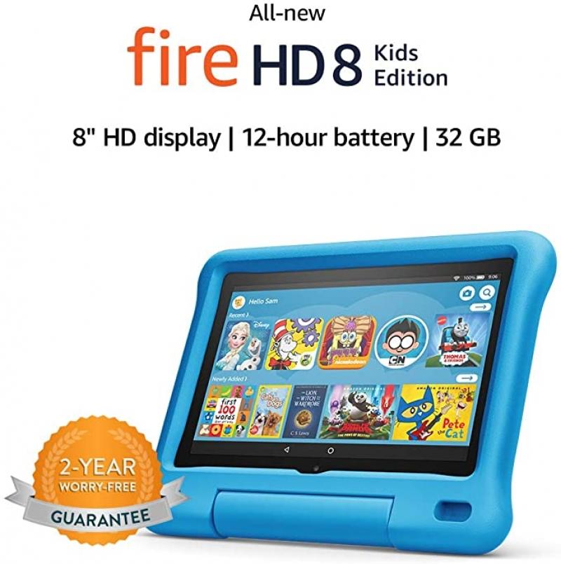 ihocon: All-new Fire HD 8 Kids Edition tablet, 32 GB 兒童平板電腦