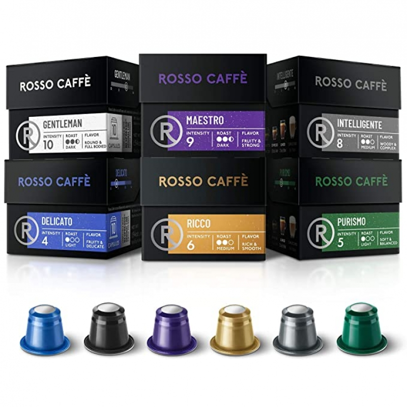 ihocon: Rosso Coffee Capsules for Nespresso Original Machine - 60 Pods 咖啡膠囊