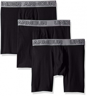 "ihocon: Under Armour Armor Men's Charged Cotton Stretch 6"" Boxerjock – 3-Pack 男士棉質內褲"