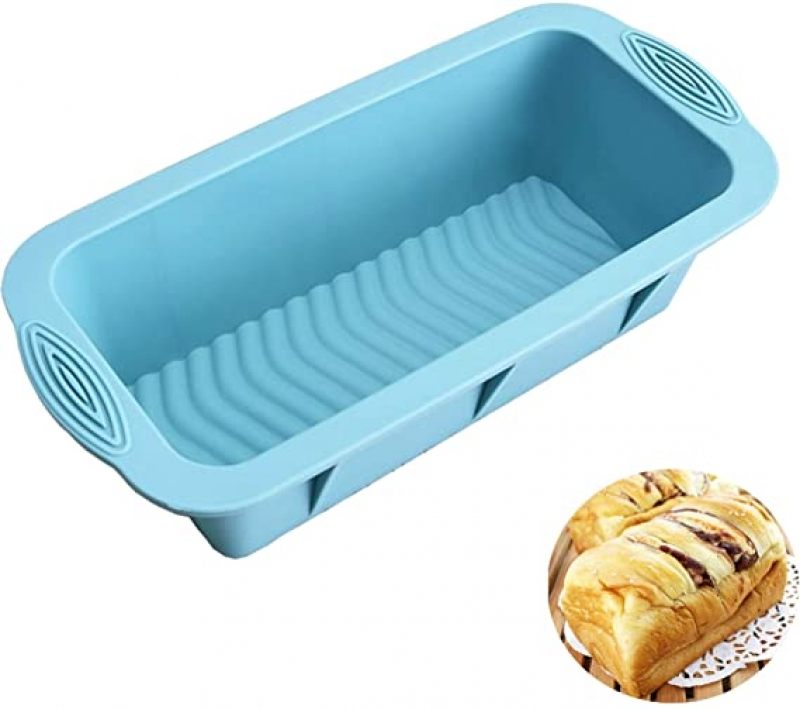 ihocon: Amrta Silicone Bread Loaf Pan Nonstick Baking Toast Molds 8.3 x3.6 inch 矽膠吐司/蛋糕模
