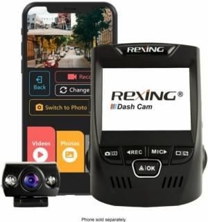 Rexing V1P Plus 前後雙鏡頭行車記錄器 $119.99 (原價$149.99)