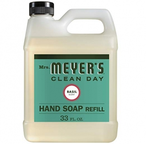 ihocon: Mrs. Meyer's Liquid Hand Soap Refill, Basil - 33 Ounce 洗手液皂