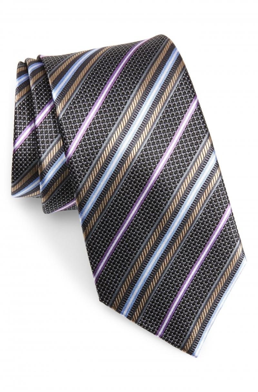 ihocon: NORDSTROM MEN'S SHOP Stripe Silk Tie 男士絲質領帶 - 多色可選