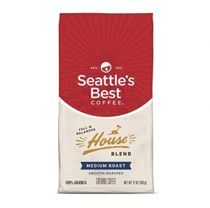 ihocon: Seattle's Best Coffee House Blend Medium Roast Ground Coffee, 12 Ounce (Pack of 1) 研磨咖啡粉