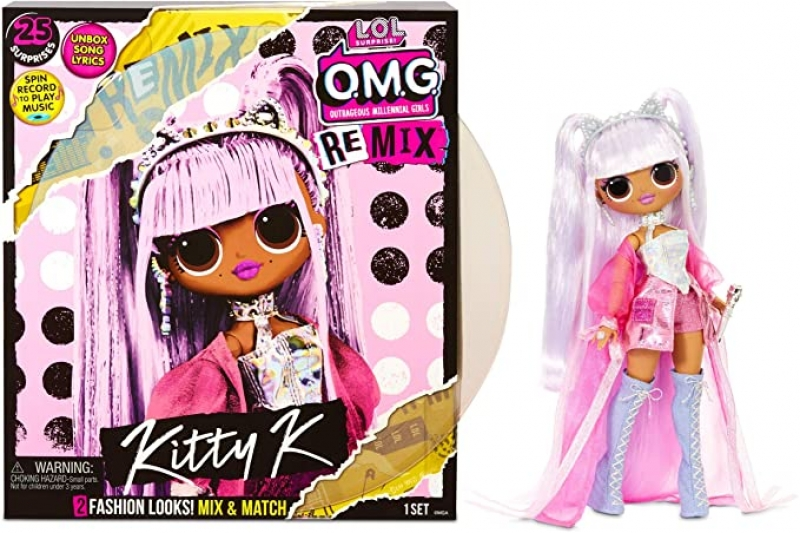 ihocon: L.O.L Surprise! OMG Remix Kitty K Fashion Doll with 25 Surprises 驚喜娃娃