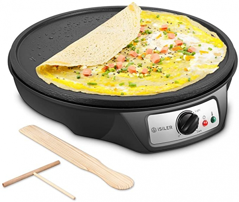 ihocon: iSiLER Nonstick Electric Pancakes Maker Griddle, 12 inches 可麗餅機