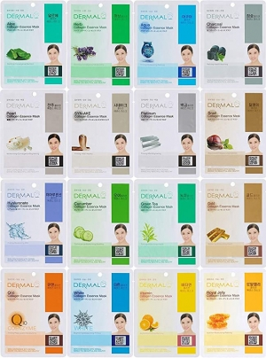 ihocon: 韓國Dermal Korea Collagen Essence Full Face Facial Mask Sheet, 16 Combo Pack  膠原蛋白保濕面膜