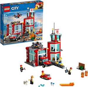 ihocon: LEGO City Fire Station 60215 Fire Rescue Tower Building Set (509 Pieces)
