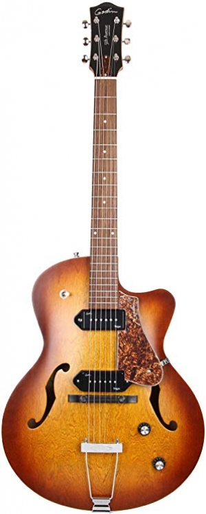 ihocon: Godin 5th Avenue CW Electric Guitar (Kingpin II, Cognac Burst) 電吉他