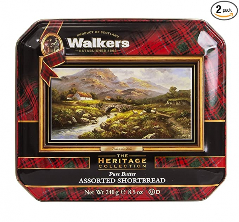 ihocon: Walkers Shortbread Path To The Hills Assorted Shortbread Cookie Gift Tin, 8.5 Ounce (Pack of 2) 曲奇餅乾禮盒