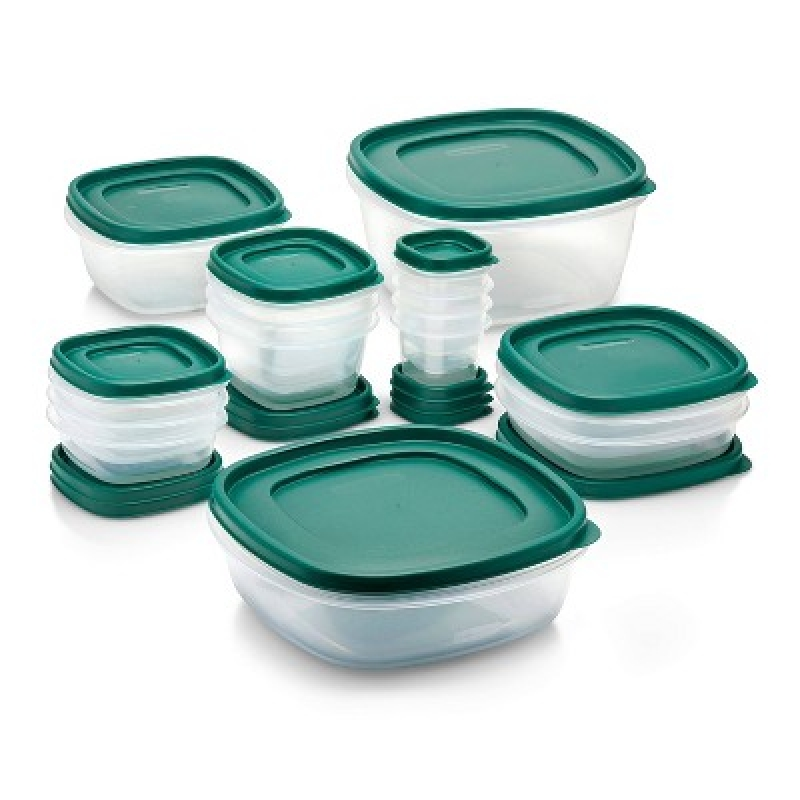 ihocon: Rubbermaid 30pc Food Storage Container Set with Easy Find Lids Forest Green  3食物保鮮盒