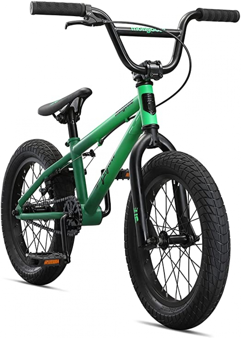 ihocon: Mongoose Legion Freestyle Sidewalk BMX Bike for-Kids, 16 inch Wheels兒童自行車