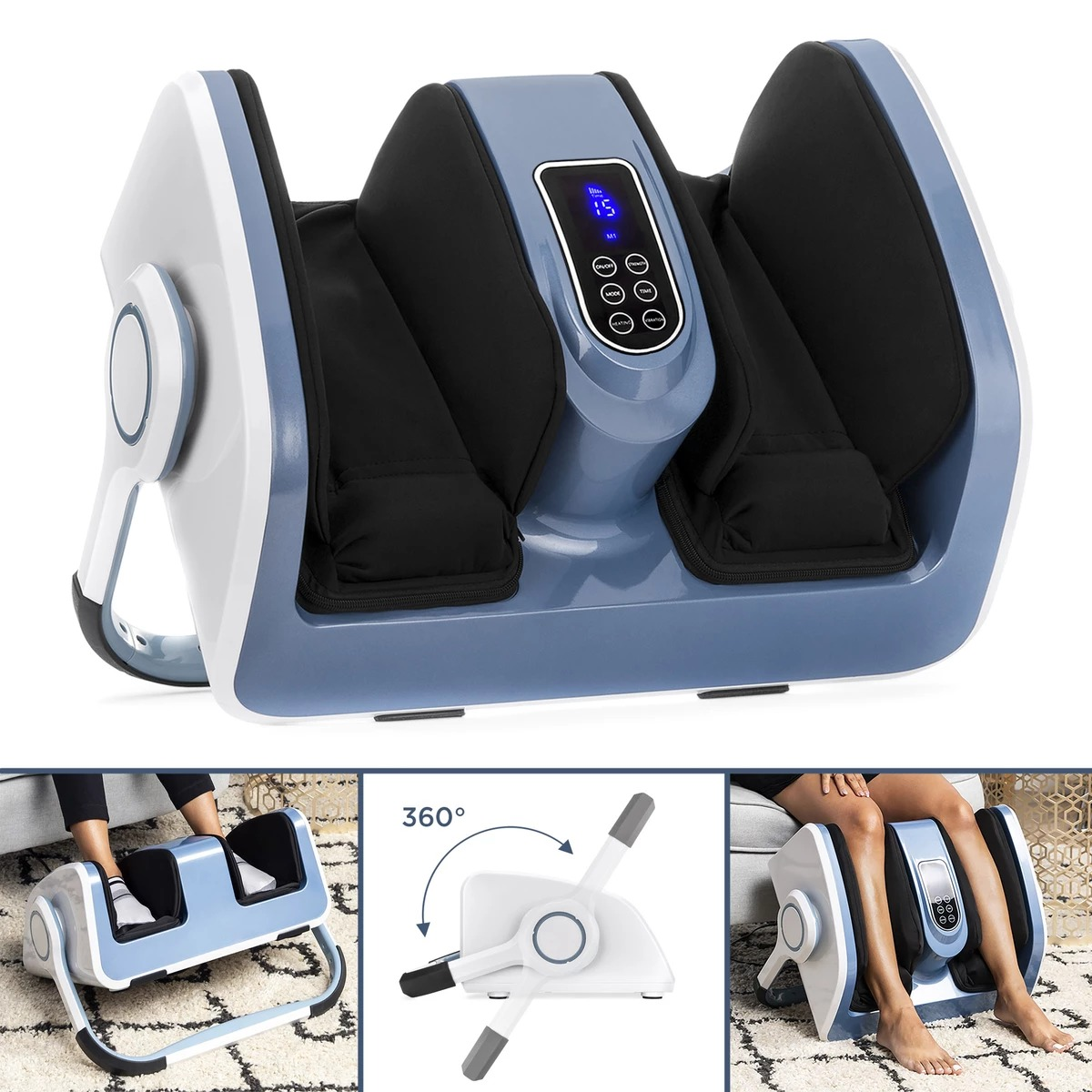 ihocon: Best Choice Products Deep Kneading Shiatsu Foot and Calf Massage Machine w/ Heat Therapy 加熱足部及小腿按摩機
