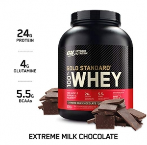 ihocon: Optimum Nutrition Gold Standard 100% Whey Protein Powder, Extreme Milk Chocolate, 5 Pound  乳清蛋白粉