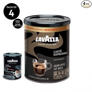 ihocon: Lavazza Caffe Espresso Ground Coffee Blend, Medium Roast, 8-Ounce Cans,Pack of 4  研磨咖啡粉