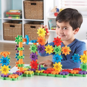 ihocon: Learning Resources Gears! 100 Piece Deluxe Building Set, Construction Toy, Ages 3+ 齒輪學習玩具