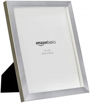 ihocon: AmazonBasics Photo Picture Frame - 8 x 10, Nickel, 2-Pack 相框