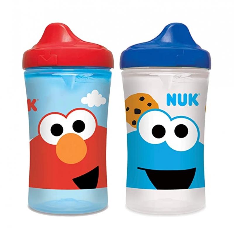 ihocon: NUK Sesame Street Hard Spout Cup, 10 Oz, 2 Pack 芝麻街兒童水杯