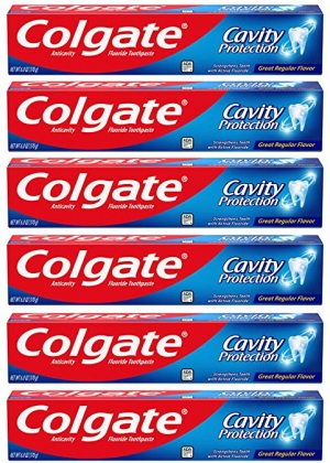 ihocon: Colgate Cavity Protection Toothpaste with Fluoride - 6 Ounce (Pack of 6) 高露蛀牙保護牙膏