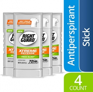 ihocon: Right Guard Xtreme Defense Antiperspirant Deodorant Invisible Solid Stick, Fresh Blast, 2.6 Ounce (4 Count)  止汗體香劑