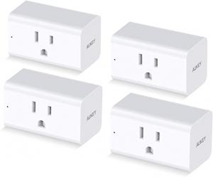 [不在家也能遙控電器] AUKEY 智能插座 4個 $19.99免運(原價$29.99)