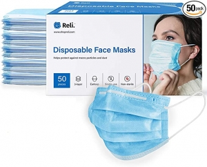ihocon: Reli. Face Masks (50 Masks) 一次性口罩