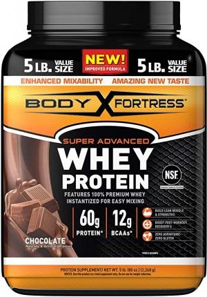 ihocon: Body Fortress Super Advanced Whey Protein Powder, Gluten Free, Chocolate, 5 Lbs 乳清蛋白粉