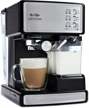 ihocon: Mr. Coffee Espresso and Cappuccino Maker | Café Barista , Silver 義式濃縮咖啡/卡布奇諾咖啡機
