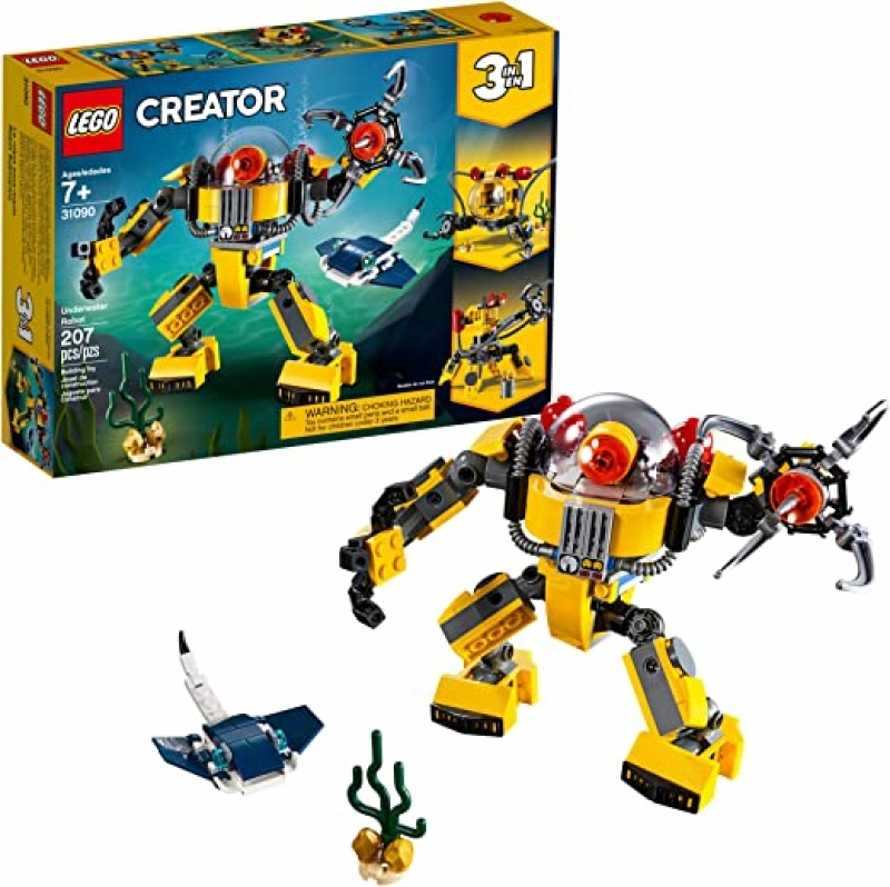 ihocon: LEGO Creator 3in1 Underwater Robot 31090 Building Kit (207 Pieces) 3合1水下機器人