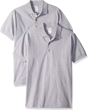 ihocon: Gildan Men's Ultra Cotton Pique Sport Shirt, 2-Pack 男士棉衫