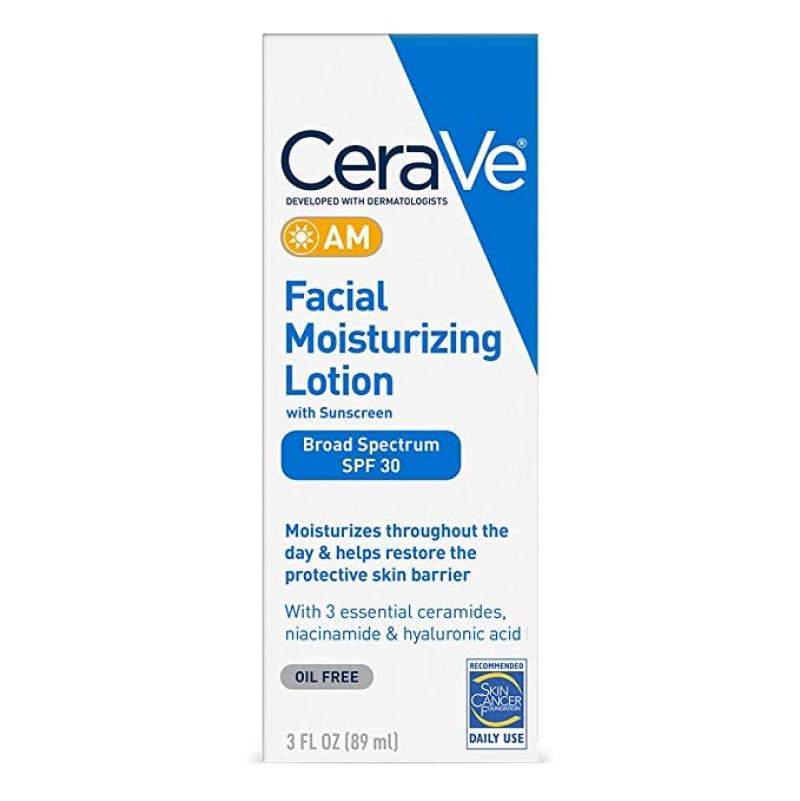 ihocon: CeraVe AM Facial Moisturizing Lotion SPF 30 臉部保濕乳 3oz