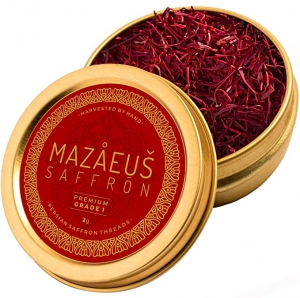 Mazaeus Saffron, Grade 1  藏紅花/番紅花 2克 $13.95 (原價$14.95)
