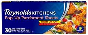 ihocon: Reynolds Kitchens Pop-Up Parchment Paper Sheets, 10.7x13.6 Inch, 30 Count 烘培紙