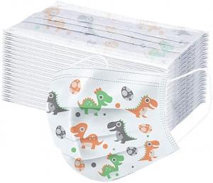 ihocon: Zackate Children Dinosaur Print Disposable Face Guard, 100PCS 兒童一次性口罩